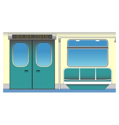Interior of subway car vector