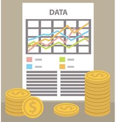 Money sheet vector