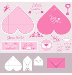 Envelope heart 380 vector