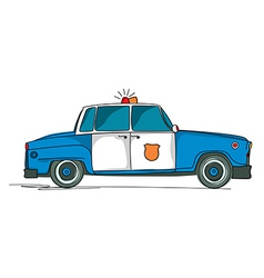 Police car cartoon vector