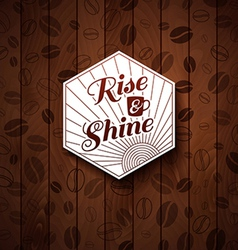 Cutout paper style on a wooden background vector
