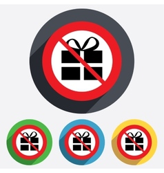 No gift box sign icon present symbol vector