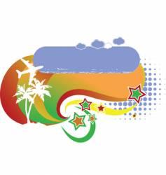 Tropical avian vacation logo vector