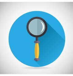 Search symbol magnifying glass loupe icon with vector
