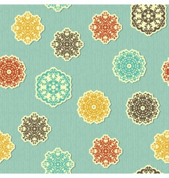 Seamless pattern with paper cut snowflakes vector