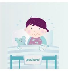 Child in hospital cartoon vector