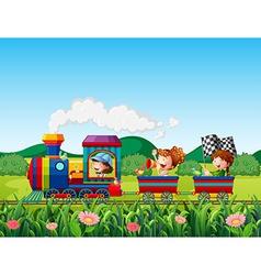 Train ride vector