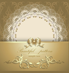Luxurious gold background with napkin vector