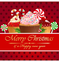 Christmas pastry and sweets vector