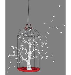 Freedom concept tree vector