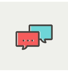 Chat thin line icon vector