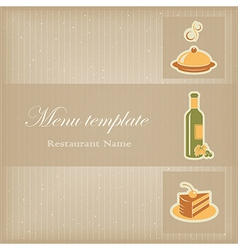 Food menu template vector