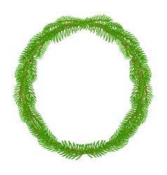 Christmas decoration wreath round frame vector