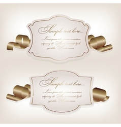 Romantic label with ribbon vetor vector