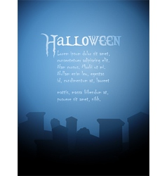 Halloween tombstone background vector