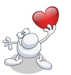 Man heart vector