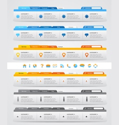 Navigation menus for website vector