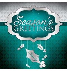 Elegant hanging decoration card in format vector