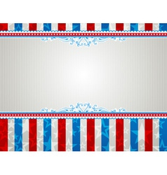 Usa background with stars and decorative frames vector