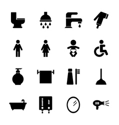 Bathroom icon vector