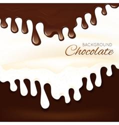 Milk chocolate splash vector