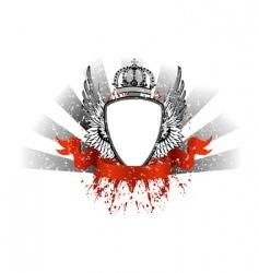 Grunge heraldry vector