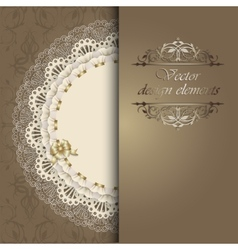 Luxury design elements with a napkin vector