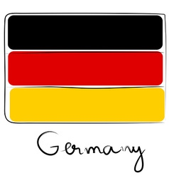 Germany flag doodle vector