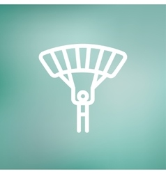 Skydiving thin line icon vector
