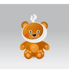 Ill bear with thermometer vector