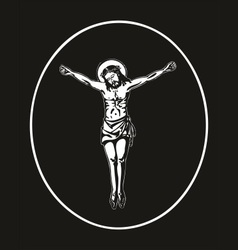 Jesus crucified vector