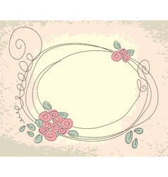 Cute floral frame vector