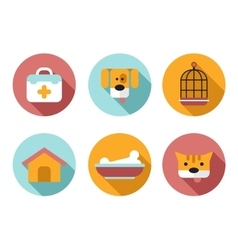 Web icon set pet vet pet shop vector