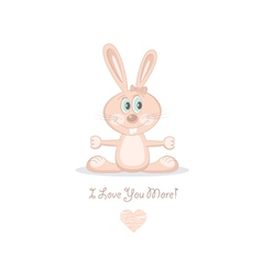 Pink love rabbit vector