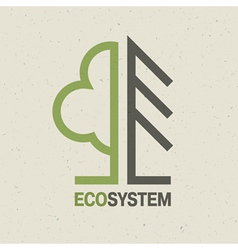 Ecology symbol concept vector