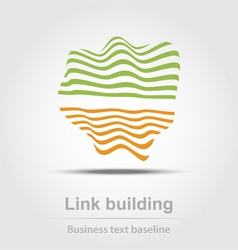 Link building business icon vector