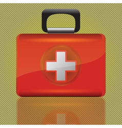 Red aid case vector