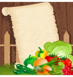Vegetable background vector