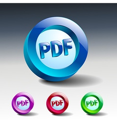 Pdf icon button internet document file vector