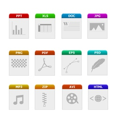 File type icons vector