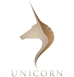 Unicorn emblem vector