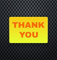 Thank you banner vector