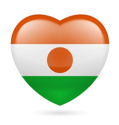Heart icon of niger vector