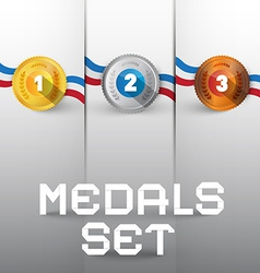 Medals set vector