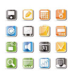 Simple business and finance icons vector