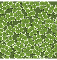 Four leafed clover pattern vector