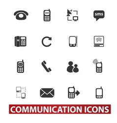 20 communication signs icons set vector