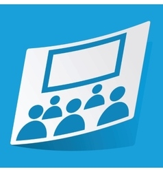 Audience sticker vector