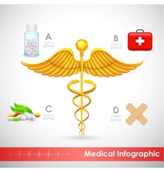 Healthcare and medical infographics vector