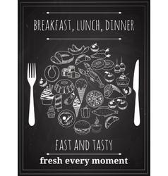 Vintage food poster vector